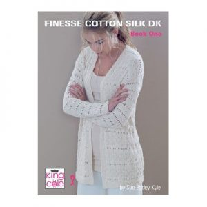 King Cole Books Finesse Cotton Silk DK Book 1