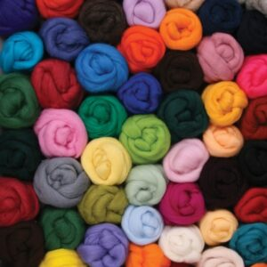 Corriedale Wool Fibre 10 gram package