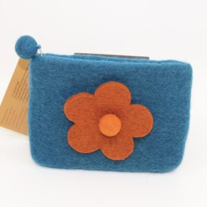 Fibres of Life – Small Wool Zippered Pouch